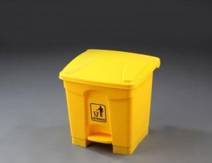 Papelera pedal plástico de 30 L