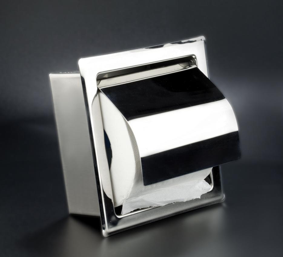 Portarrollos empotrable inox para la higiene industrial for Accesorios bano papel higienico