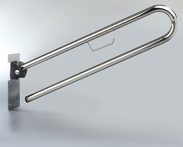 BARRA ABATIBLE INOX 80 CMS