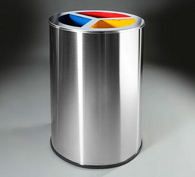 papelera selectiva para reciclaje