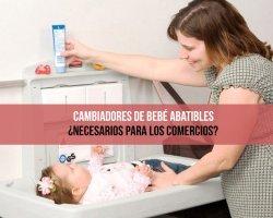 Cambiadores bebé abatibles para comercios